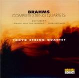 BRAHMS - Tokyo String Qu - Quatuor à cordes n°1 en do mineur op.51 n°1