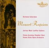 MOZART - Scherchen - Requiem pour solistes, chœur et orchestre en ré min