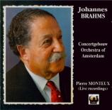 BRAHMS - Monteux - Tragische Ouvertüre (Ouverture tragique), pour orches