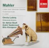 MAHLER - Boult - Lieder