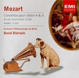 MOZART - Oistrakh - Concerto pour violon et orchestre n°4 en ré majeur K