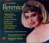 HAENDEL - Palmer - Berenice, regina d'Egitto, opéra en 3 actes HWV.38 réédition avec livret Pdf