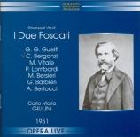 VERDI - Giulini - I due Foscari, opéra en trois actes live RAI Milano 4 - 12 - 1951
