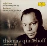 SCHUBERT - Quasthoff - Schwanengesang (Le chant du cygne), cycle de mélo