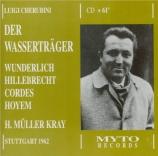 CHERUBINI - Müller-Kray - Les deux journées (En allemand) En allemand