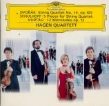 DVORAK - Hagen Quartett - Quatuor à cordes n°14 en la bémol majeur op.10