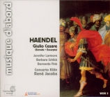 HAENDEL - Jacobs - Giulio Cesare : extraits