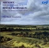 ARENSKY - Nash Ensemble - Trio avec piano n°1 op.32