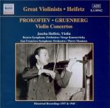 PROKOFIEV - Heifetz - Concerto pour violon n°2 en sol mineur op.63