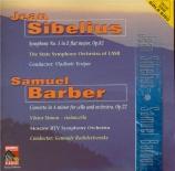 BARBER - Simon - Concerto pour violoncelle op.22