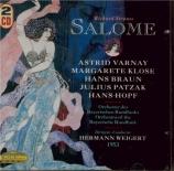 STRAUSS - Weigert - Salomé, opéra op.54