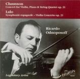 CHAUSSON - Odnoposoff - Concert pour piano, violon et quatuor à cordes o