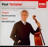 CHOPIN - Tortelier - Sonate pour violoncelle et piano en sol mineur op.6
