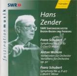 SCHUBERT - Zender - Symphonie n°1 D.82
