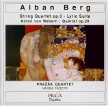 BERG - Prazak Quartet - Quatuor à cordes op.3