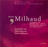 MILHAUD - Milhaud - Symphonie n°3 op.271 'Te Deum'