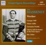MASSENET - Cohen - Werther, drame lyrique