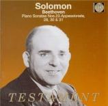 BEETHOVEN - Solomon - Sonate pour piano n°23 op.57 'Appassionata'