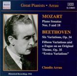 MOZART - Arrau - Sonate pour piano n°5 en sol majeur K.283 (K6.189h)