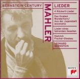 MAHLER - Fischer-Dieskau - Rückert Lieder, cinq mélodies pour voix et pi