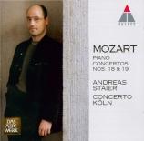 MOZART - Staier - Concerto pour piano et orchestre n°18 en si bémol maje