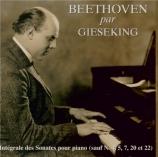 BEETHOVEN - Gieseking - Sonate pour piano n°1 op.2 n°1