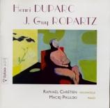 ROPARTZ - Chrétien - Sonate pour violoncelle et piano n°1