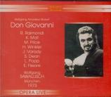 MOZART - Sawallisch - Don Giovanni (Don Juan), dramma giocoso en deux ac live München 12 - 07 - 1973