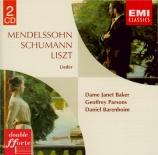SCHUMANN - Baker - Liederkreis (Eichendorff), cycle de douze mélodies po