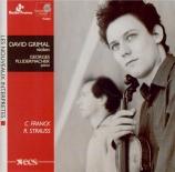 STRAUSS - Grimal - Sonate pour violon et piano en mi bémol majeur op.18