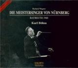 WAGNER - Böhm - Die Meistersinger von Nürnberg (Les maîtres chanteurs de live Bayreuth 1968