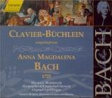 Clavier-Büchlein pour Anna Magdalena Bach 1725 Vol.136