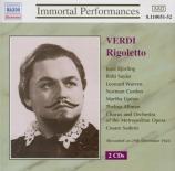 VERDI - Sodero - Rigoletto, opéra en trois actes (live MET 29 - 12 - 1945) live MET 29 - 12 - 1945