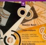 RAVEL - Leibowitz - L'heure espagnole, opéra