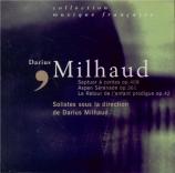 MILHAUD - Milhaud - Le retour de l'enfant prodigue, cantate op.42