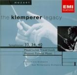 MOZART - Klemperer - Symphonie n°33 en si bémol majeur K.319
