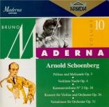 SCHOENBERG - Maderna - Pelleas und Melisande, poème symphonique pour orc