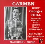BIZET - Cohen - Carmen, opéra comique WD.31 : extraits