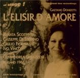 DONIZETTI - Gavazzeni - L'elisir d'amore (L'elixir d'amour) live Bergamo, 14 - 10 - 1963 (+ récital 1965)