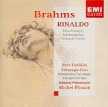 BRAHMS - Plasson - Rinaldo (Goethe), cantate pour ténor et chœur d'homme