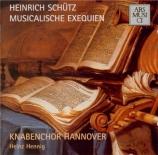 SCHÜTZ - Knabenchor Hann - Musikalische Exequien (Obsèques musicales) op