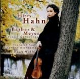 BARBER - Hahn - Concerto pour violon op.14