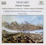 MOZART - Peire - Dixit et Magnificat en do majeur, pour solistes, chœur