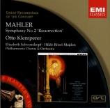 MAHLER - Klemperer - Symphonie n°2 'Résurrection'