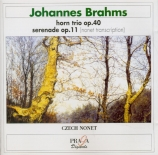 BRAHMS - Czech Nonet - Trio pour piano, violon et cor en mi bémol majeur