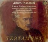 BRAHMS - Toscanini - Tragische Ouvertüre (Ouverture tragique), pour orch
