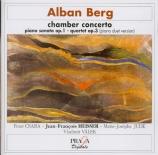 BERG - Heisser - Sonate pour piano op.1