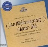 BACH - Kirkpatrick - Le clavier bien tempéré, Livre 1 BWV 846-869