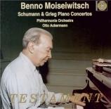 SCHUMANN - Moiseiwitsch - Concerto pour piano et orchestre en la mineur