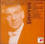 BRAHMS - Bernstein - Symphonie n°1 pour orchestre en do mineur op.68